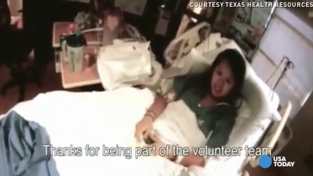 Imagini video cu Nina Pham, prima persoana care s-a imbolnavit de Ebola pe teritoriul SUA. Mesajul pe care l-a transmis