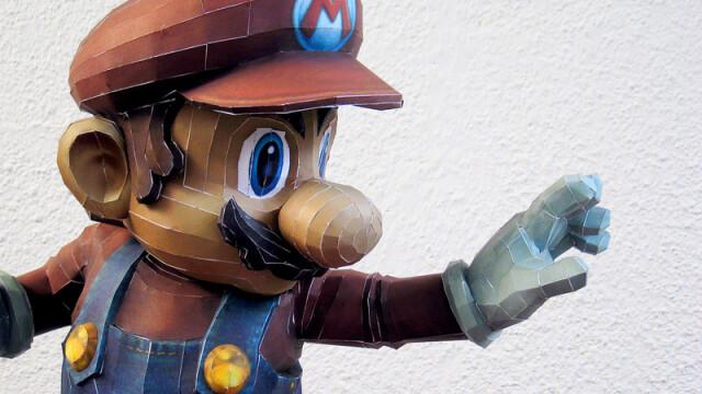 Super Mario din hartie