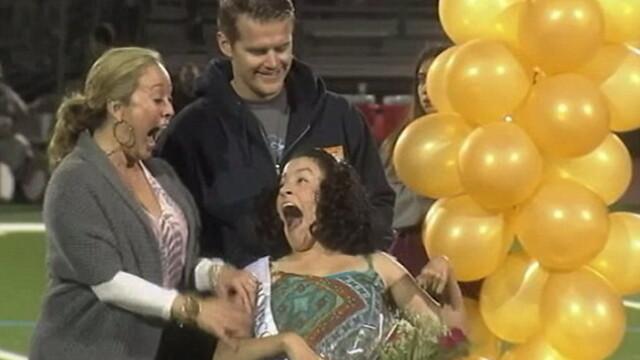 Gestul prin care o eleva cu dizabilitati din SUA a devenit cea mai fericita din lume. De ce surpriza a avut parte