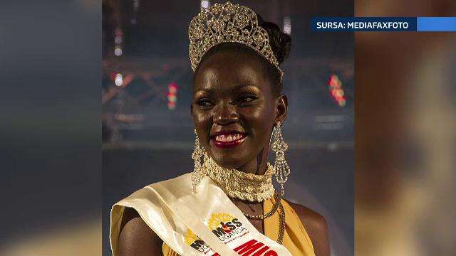 Miss Uganda, incoronata dupa ce a aratat ca stie sa mulga vacile si sa duca oile la pascut. Si tinuta de seara a ajutat-o