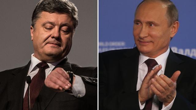 Presa din Ucraina: Putin l-a amenintat la telefon pe Porosenko. Kremlinul dezminte