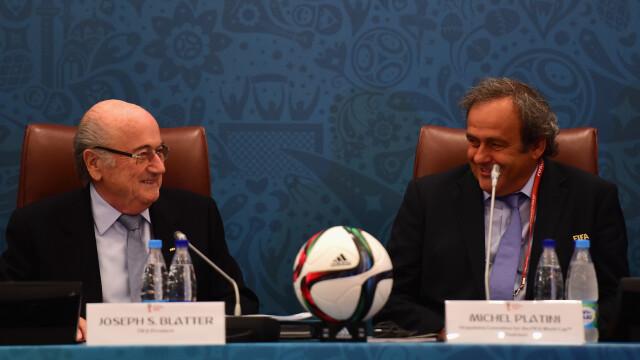 FIFA: Blatter si Platini, suspendati 8 ani din toate activitatile legate de fotbal, pentru ca au \