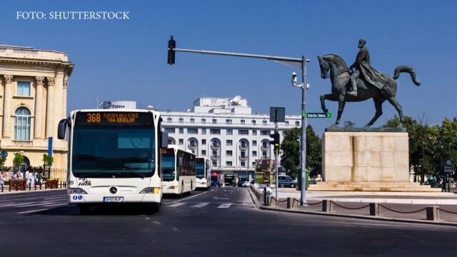 autobuze in Bucuresti la PIata Universitatii