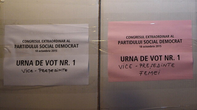 Buletine de vot la congresul PSD