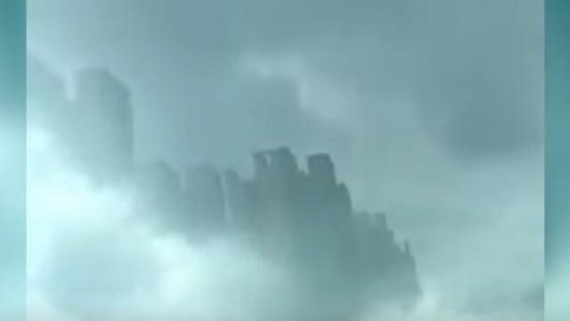 VIDEO Iluzie optica pe cer deasupra regiunii Jiangxi din China