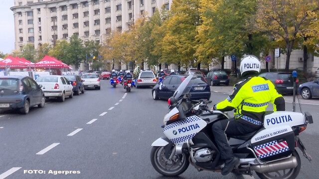 Politist motocliclist - AGERPRES