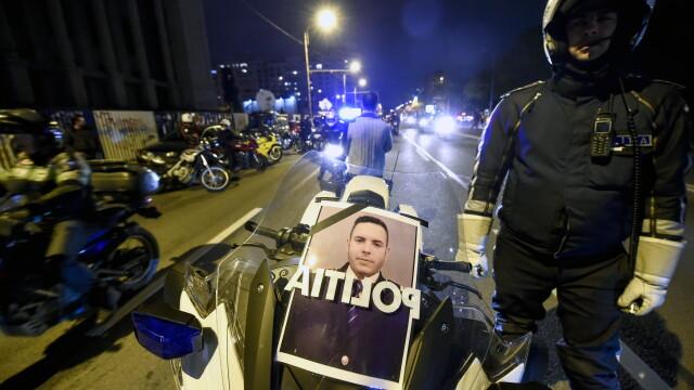 Aproximativ 500 de motociclisti s-au adunat intr-un mars al tacerii, in memoria politistului mort. Oamenii vor raspunsuri - Imaginea 4
