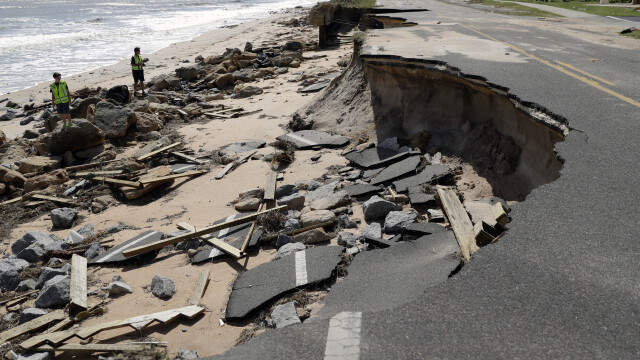Prapad in Florida, dupa trecerea uraganului Matthew