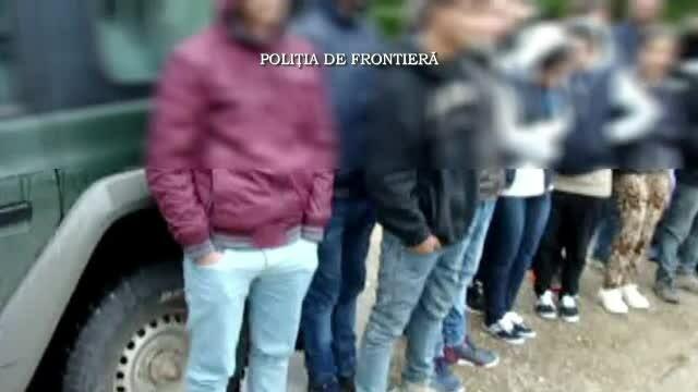 Agitatie mare la granitele Romaniei. 14 migranti irakieni si sirieni au incercat sa intre ilegal in tara