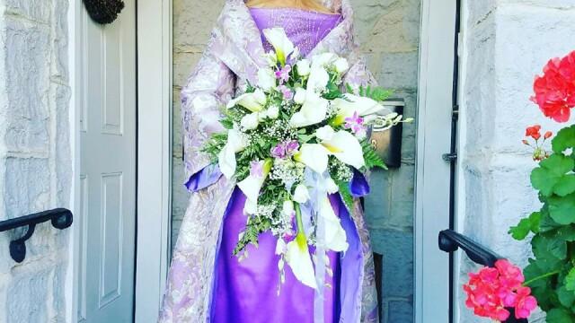 O mireasa a cucerit Facebook-ul, la 86 de ani. Cum arata rochia. FOTO
