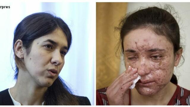 Nadia Murad si Lamiya Aji Bashar, tinerele rapite de ISIS si transformate in sclave sexuale, au primit Premiul Saharov