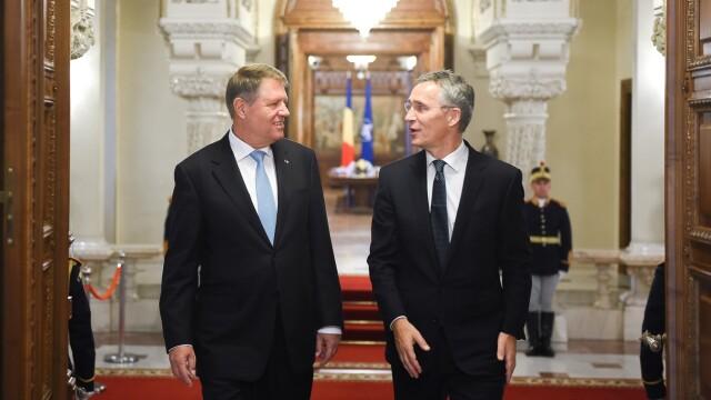 """Șeful NATO i-a dat un mesaj lui Iohannis: """"Toţi pentru unul şi unul pentru toţi!"""""""