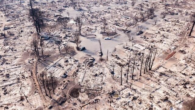 California, grav afectată de incendiile de vegetație