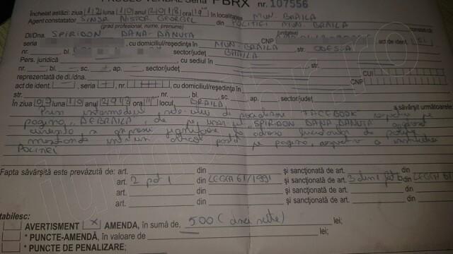O șoferiță de TIR din Brăila, amendată pentru că a criticat poliția pe Facebook. Mesajul ei