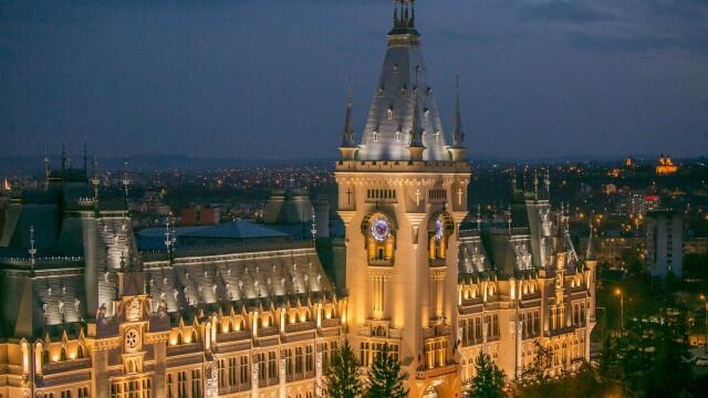 Sunet înfricoșător surprins în timpul cutremurului în turnul Palatului Culturii din Iași. AUDIO