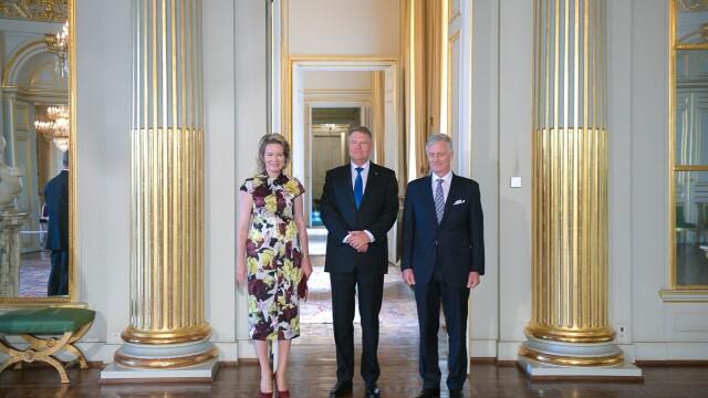 Klaus Iohannis a fost primit la Palatul Regal din Bruxelles de regele Philippe - Imaginea 1