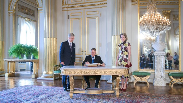 Klaus Iohannis a fost primit la Palatul Regal din Bruxelles de regele Philippe - Imaginea 2