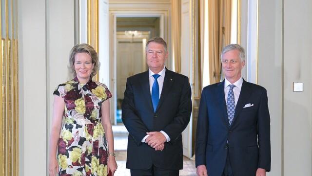 Klaus Iohannis a fost primit la Palatul Regal din Bruxelles de regele Philippe - Imaginea 3