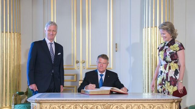 Klaus Iohannis a fost primit la Palatul Regal din Bruxelles de regele Philippe - Imaginea 4
