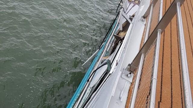 O navă de croazieră s-a ciocnit cu un cargo pe Dunăre, la Tulcea. Doi oameni la spital - Imaginea 5