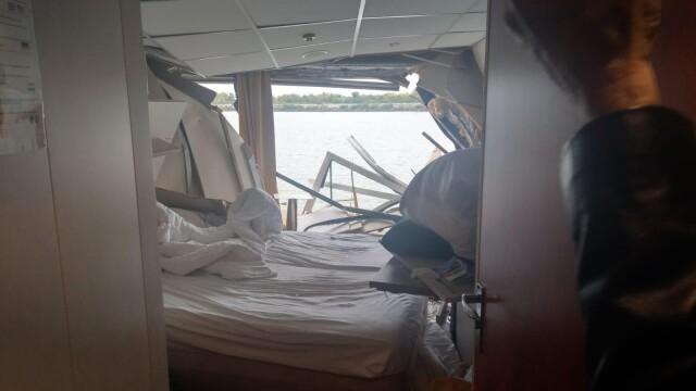 O navă de croazieră s-a ciocnit cu un cargo pe Dunăre, la Tulcea. Doi oameni la spital - Imaginea 2