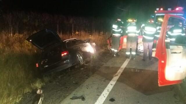 Impact teribil în Sibiu: doi tineri de 23 de ani au murit, alți doi sunt la spital - Imaginea 1