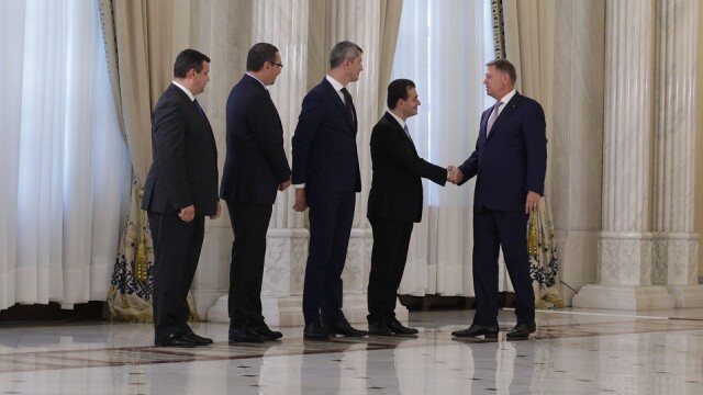 Klaus Iohannis, Dan Barna, Ludovic Orban, Eugen Tomac si Victor Ponta