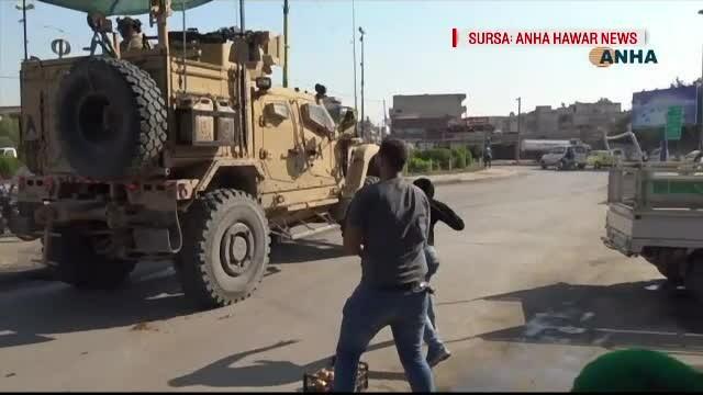 "Trupele americane din Siria, ""bombardate"" cu cartofi de localnicii kurzi"