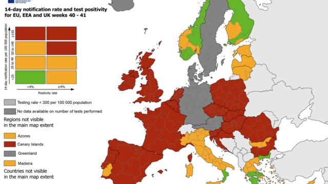 Peste jumătate din statele UE sunt în zona roşie de risc epidemic, potrivit hărţii ECDC