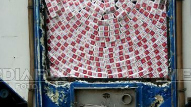 460.000 de pachete de tigari de contrabanda, descoperite la Vama Nadlac