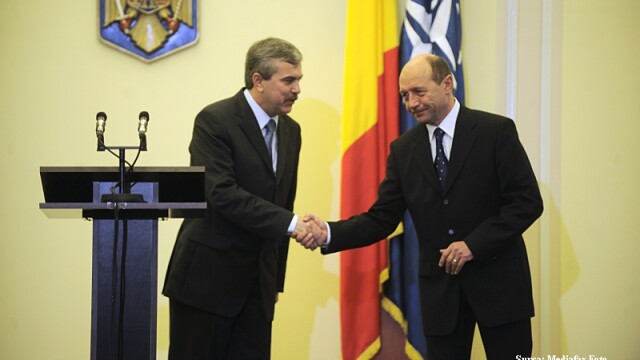 Traian Basescu si Dan Nica