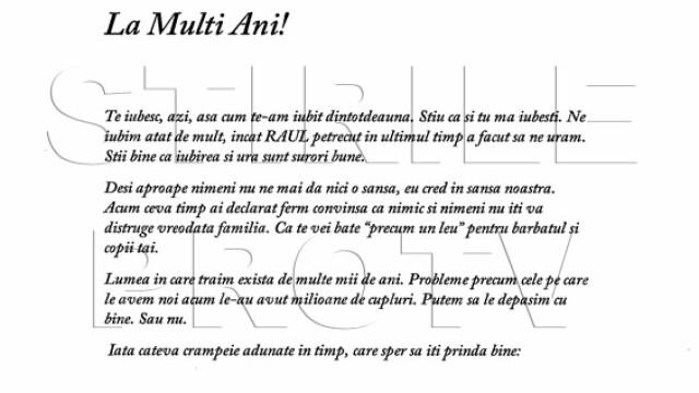 Citeste integral scrisoarea prin care milionarul Remus Truica isi implora sotia sa se intoarca acasa - Imaginea 1