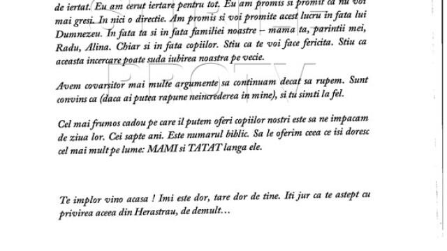Citeste integral scrisoarea prin care milionarul Remus Truica isi implora sotia sa se intoarca acasa - Imaginea 5