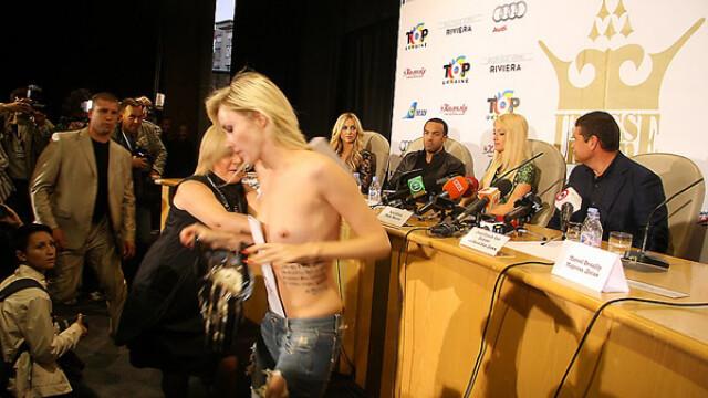 O ucraineanca topless i-a luat fata lui Paris Hilton. FOTO si VIDEO - Imaginea 3