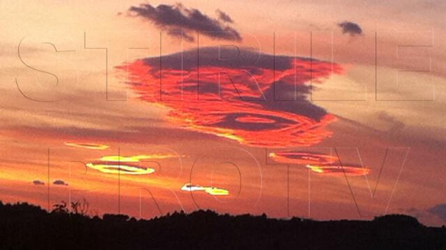 UPDATE: Spectacol pe cer in doua judete din Romania. Formele spectaculoase oferite de nori - Imaginea 8