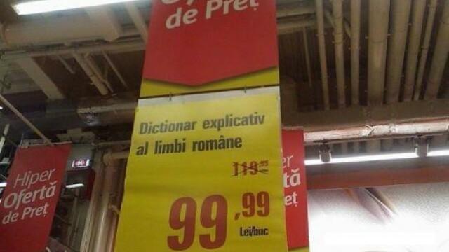 Imaginea zilei: Ce scrie pe acest panou de care au ras clientii unui hypermarket din Romania