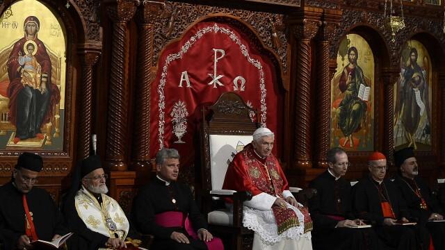 Ceremonie grandioasa in Beirut pentru Papa Benedict al XVI-lea - Imaginea 5