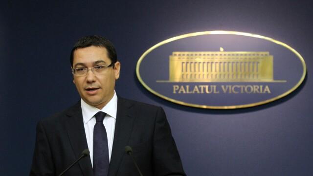 Premierul Victor Ponta: \