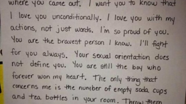 Reactia emotionanta a unei mame dupa ce a aflat ca fiul ei este gay