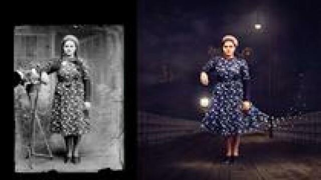 Imagini alb-negru, realizate de un fotograf roman inainte de razboi, au fost aduse la viata de o artista din Australia