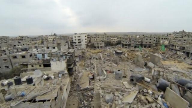 FILMARE cu DRONA in Fasia Gaza. Imaginile surprinse de BBC arata o lume rupta dintr-un scenariu apocaliptic. VIDEO