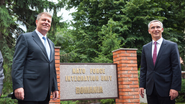 Iohannis si Jens Stoltenberg, comandament NATO Romania