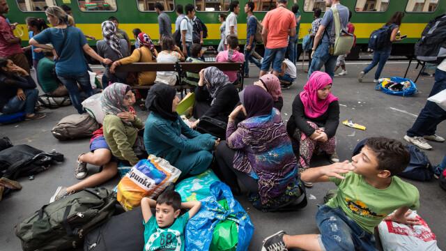 refugiati budapesta - getty