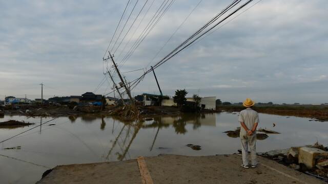Imagini ca in filmele horror in Japonia devastata de ape. Peste 100 de persoane sunt blocate intr-un spital inundat - Imaginea 2