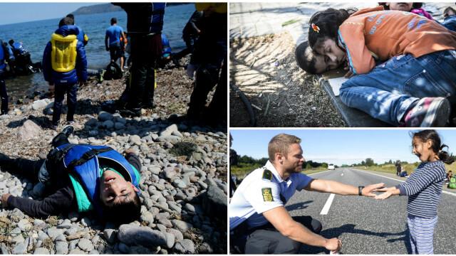Lupta pentru supravietuire a imigrantilor, in IMAGINI: Europa, intre reticenta si compasiune - Imaginea 20