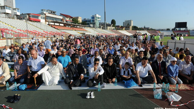 Musulmani pe stadionul Dinamo - AGERPRES