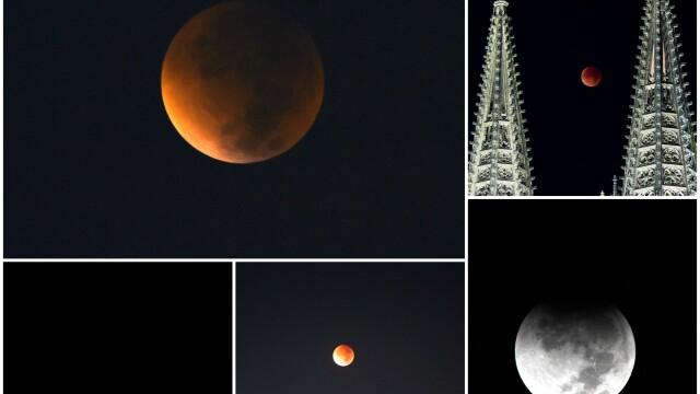 Cum s-a vazut eclipsa de Luna si Super Luna. GALERIE FOTO si VIDEO cu un eveniment astronomic foarte rar - Imaginea 11