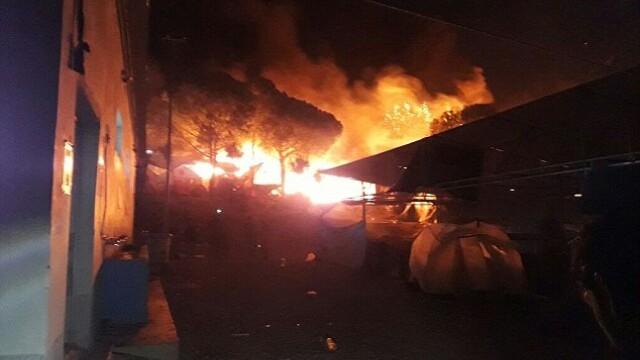 Incendiu tabara imigranti Grecia