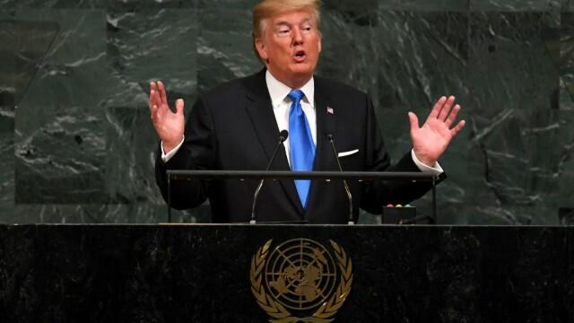 """Trump a amenințat că va distruge în întregime Coreea de Nord și l-a numit pe Kim Jong-un """"omul-rachetă"""" - Imaginea 1"""