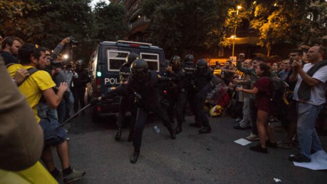 Proteste violente pentru obținerea independenței Cataloniei